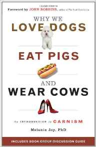 Click here to buy Why We Love Dogs, Eat Pigs and Wear Cows by Melanie Joy, PhD