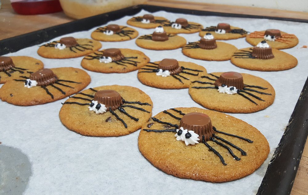 Spider Peanut Butter Cookies