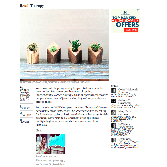 Rusterior Design mention in the Buffalo News http://buffalo.com/2015/06/16/buffalo-magazine/retail-therapy/