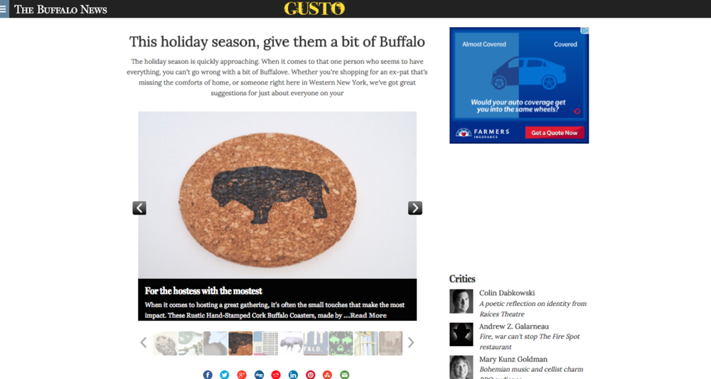 The Buffalo News: Gusto holiday gift guide 2014