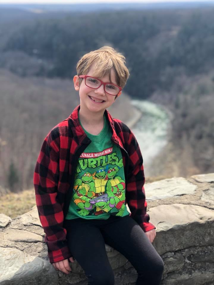 Grace near the overlook at 550ft.