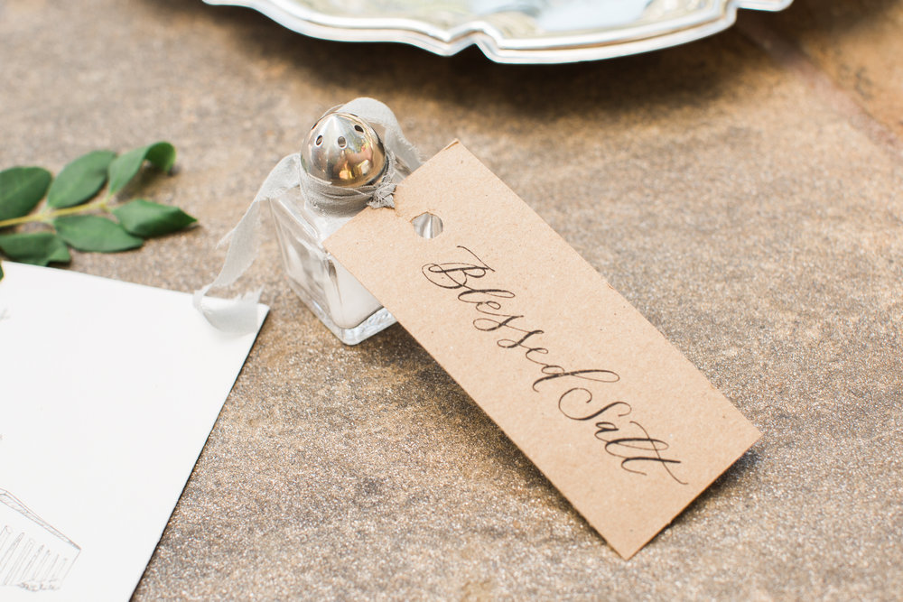 Calligraphy by  Sarah Ann Design . Photo by  Angela Sostarich .