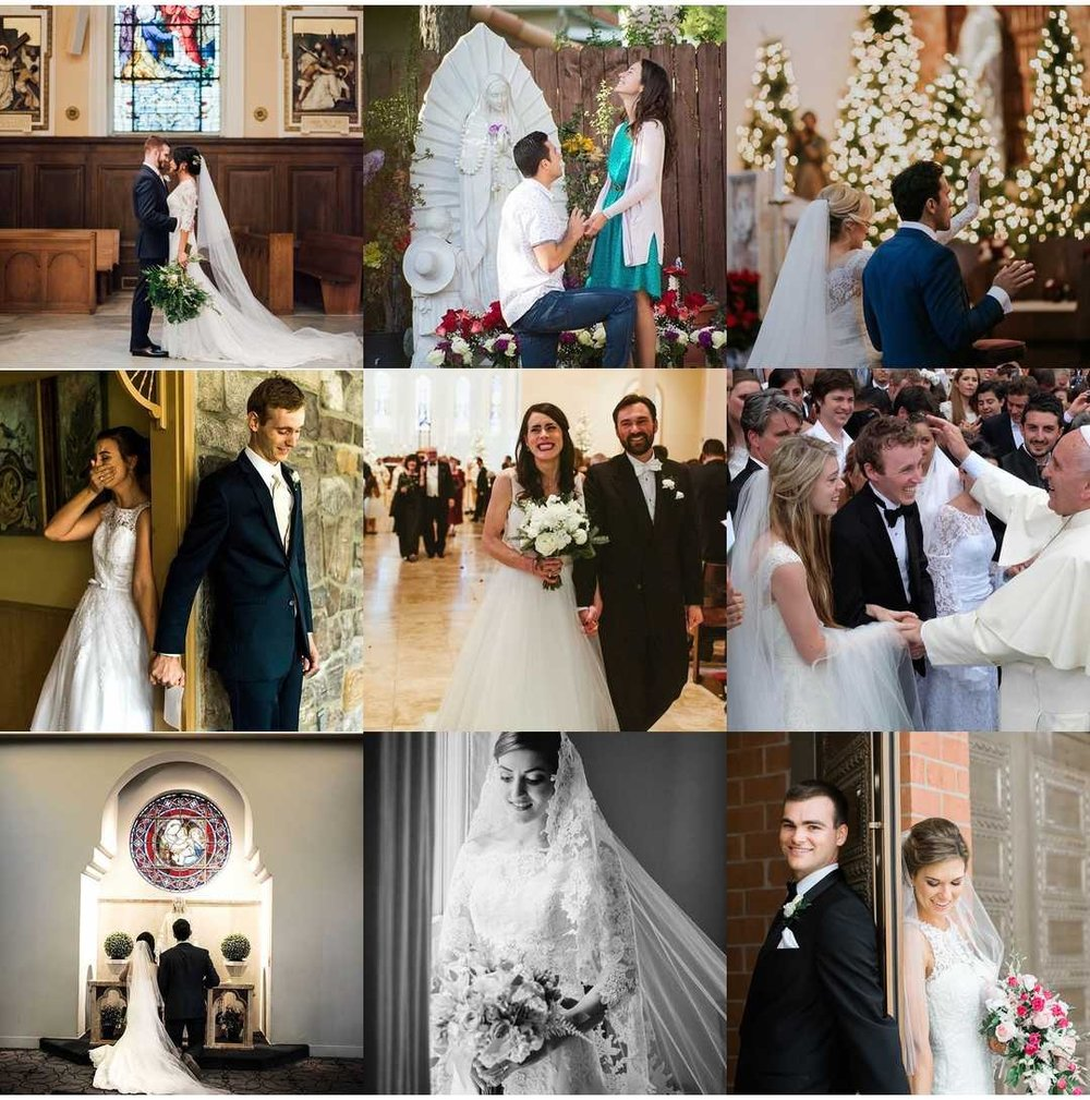 Our Best Nine, According to Instagram  L-R Clockwise:  Laurel Creative ,  Rae & Michael Photography ,  Elissa Voss Photography ,  Mary Katherine Photography ,  Leah Muse Photography ,  L'Osservatore Romano Photography ,  Sweetness & hope Mamas ,  Du Castel Photography ,  Jenn HarkleRoad Photography