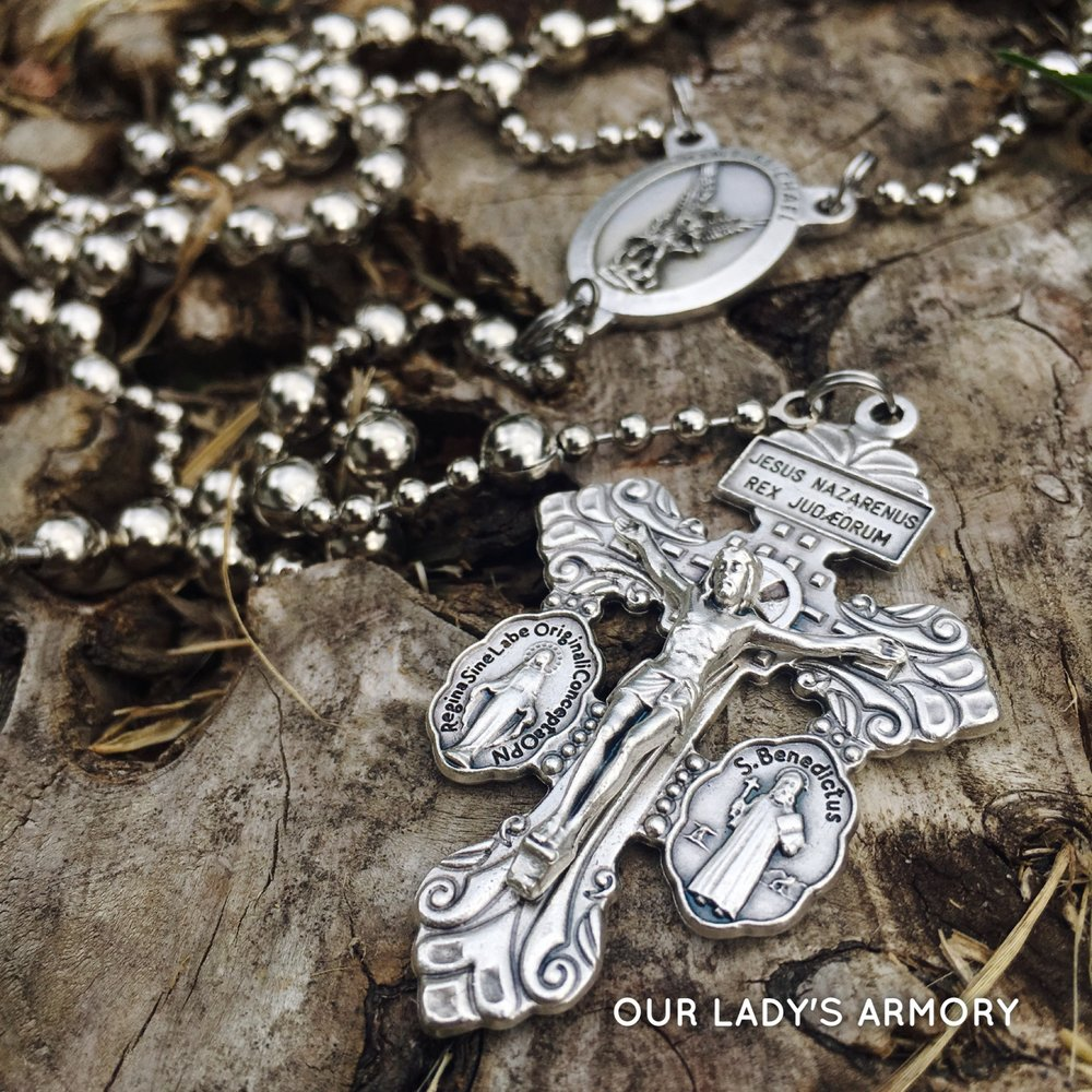Saint Michael WWI Battle Rosary.JPG