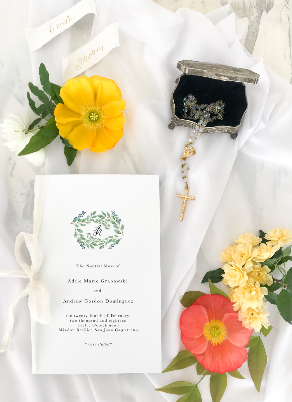 Catholic Wedding Program Cover by Sea and Sun Calligraphy.PNG