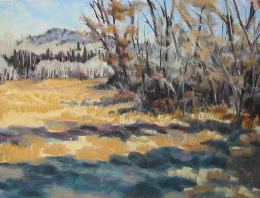 Fall Shadows     Pastel     Private Collection