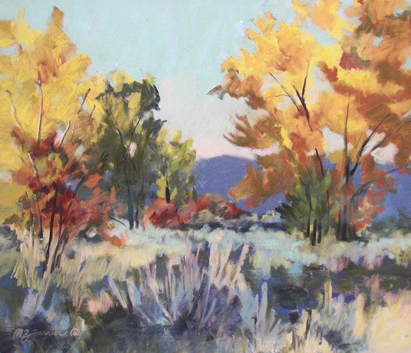 Cottonwood Bottom     Pastel     Private Collection