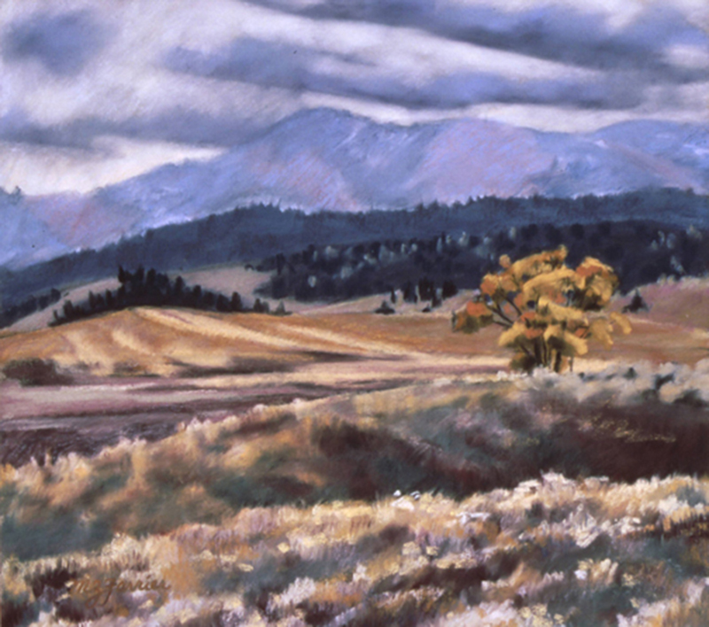 Early Snow     Pastel     Private Collection