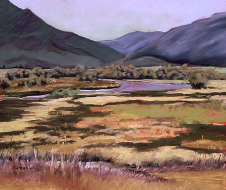 Teton Wetlands     Pastel     Private Collection