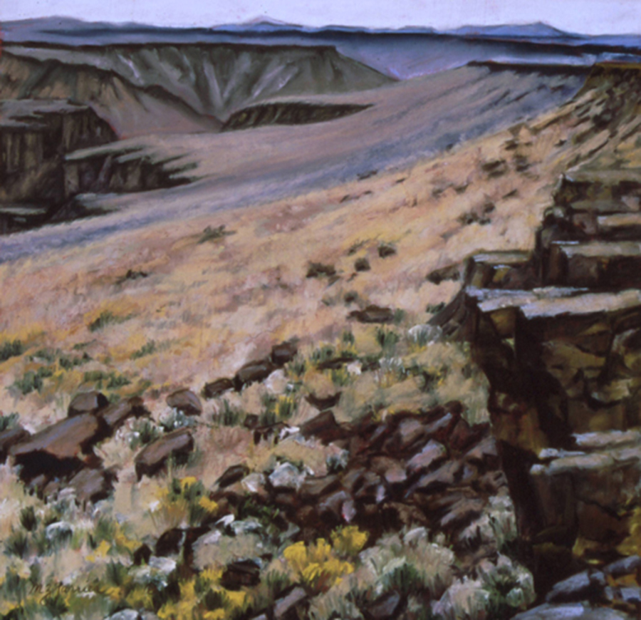 Virgin Valley Canyon     Pastel     Private Collection