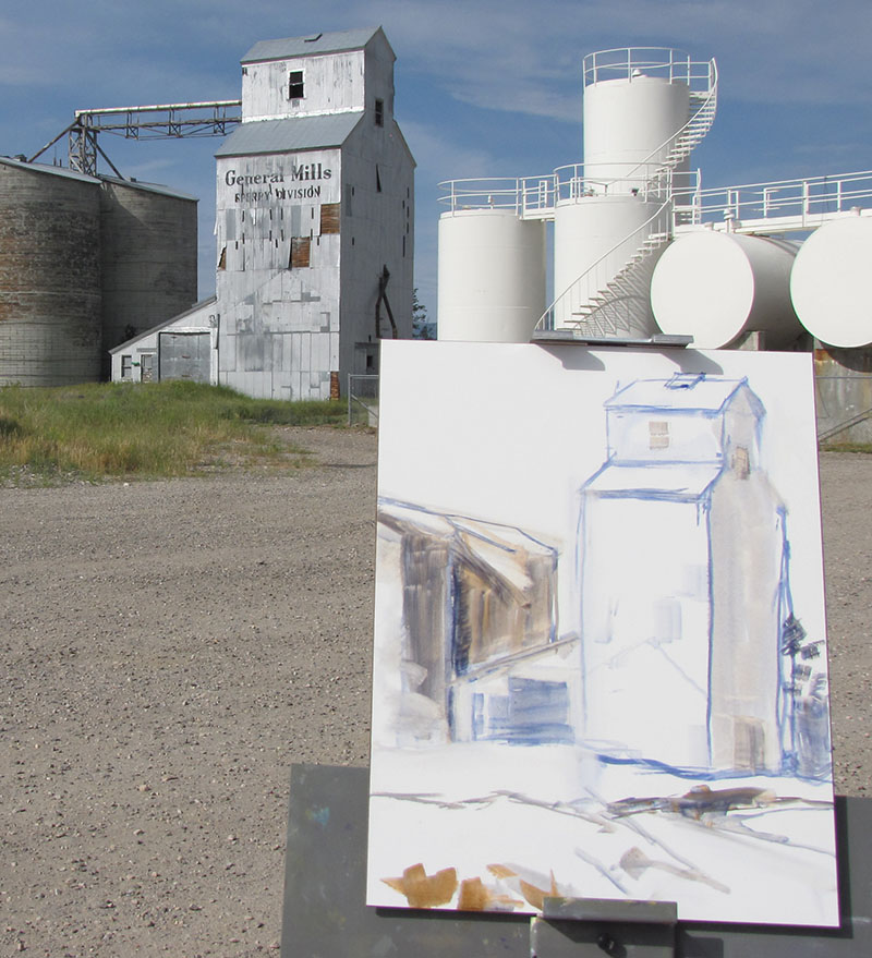 GM Silo drawing with oil