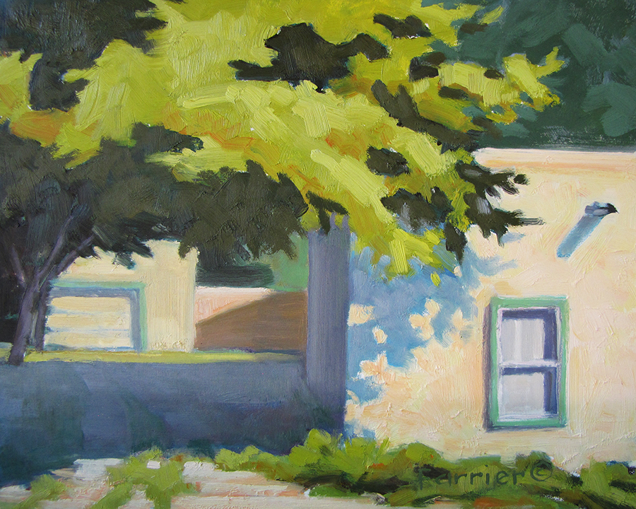 'Looking toward Shade'  Oil.  8x10.  InArt Gallery.