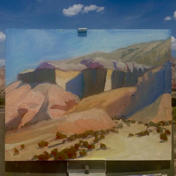 Cliff Study. Oil. 11x14.