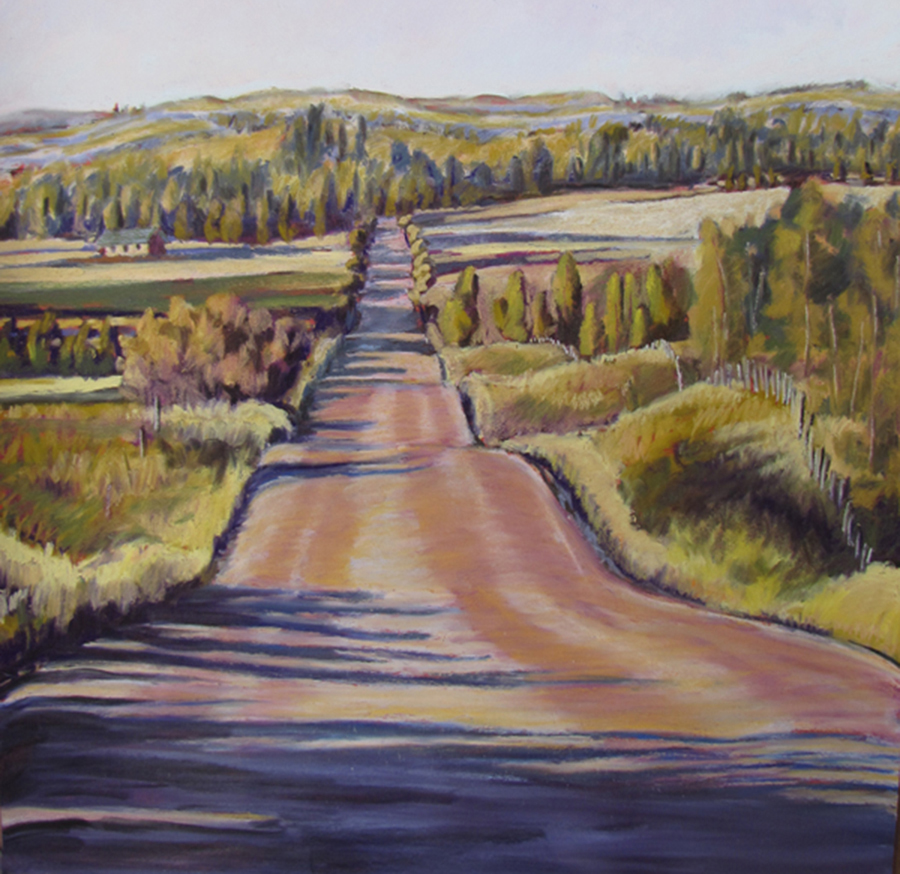 Stateline Road     Pastel     Wyoming State Art Collection