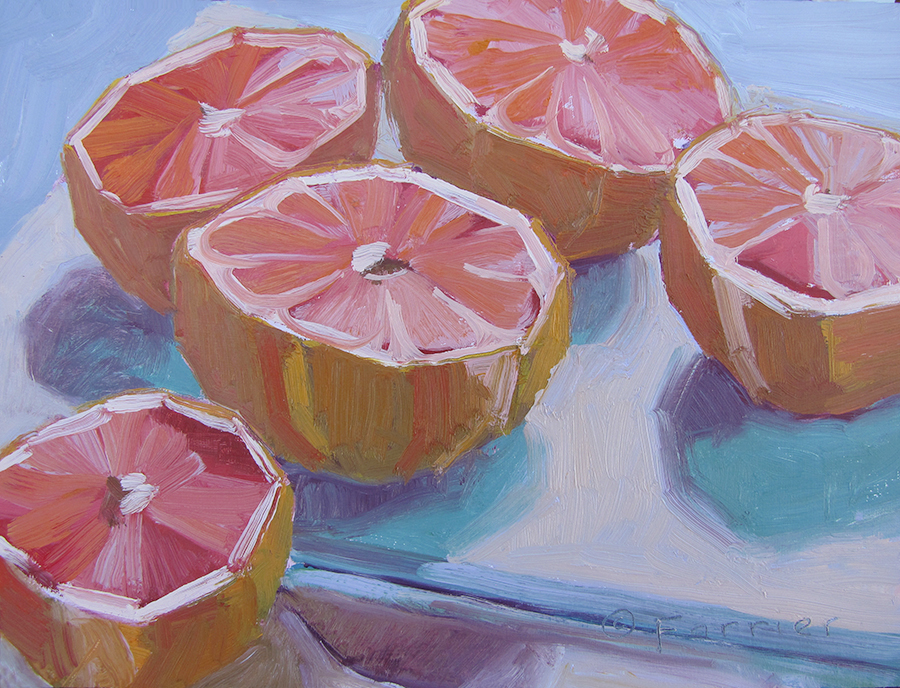 Grapefruit Study     Oil     Private Collection