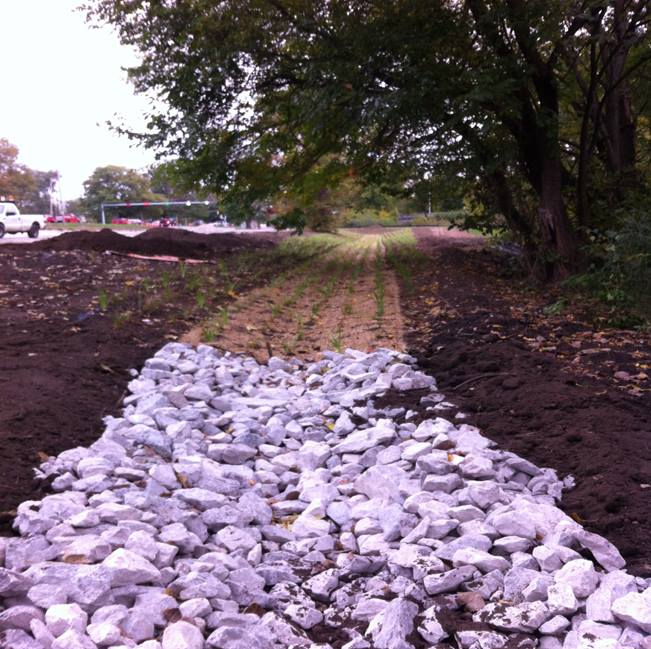 Bio-Swale at the Broadway Parking Lot