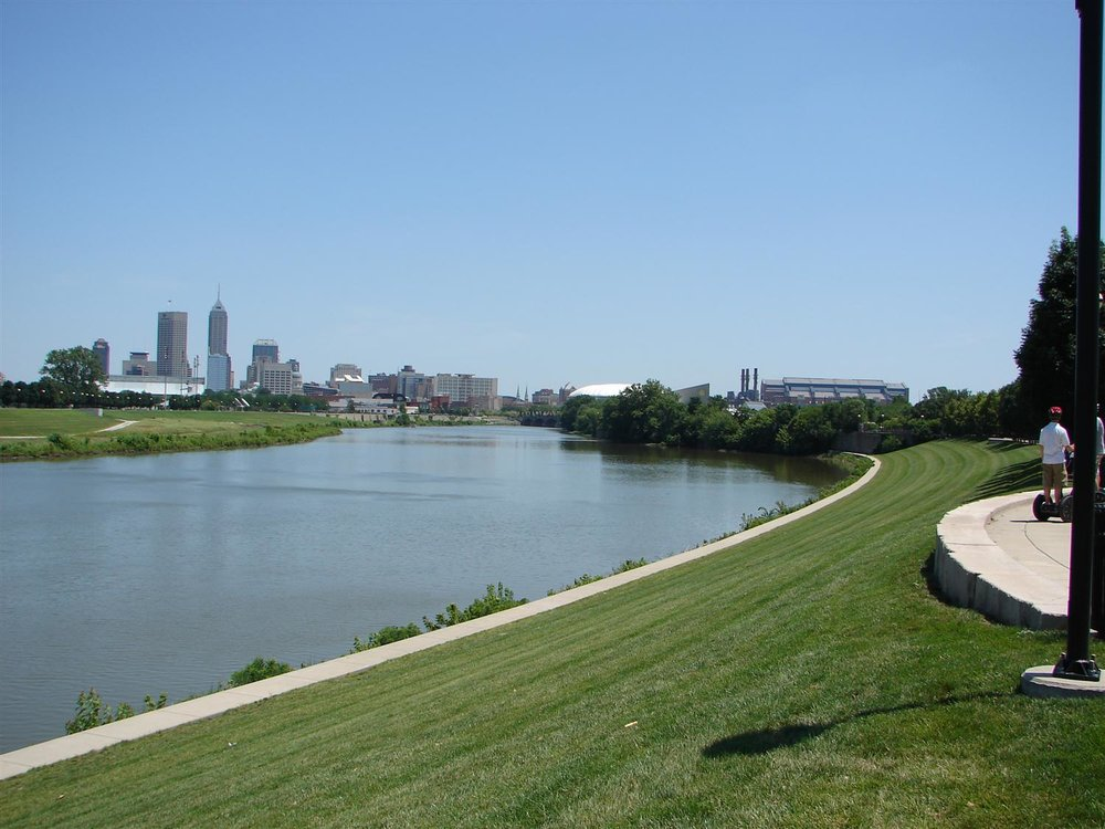 Indianapolis skyline and the White RIver