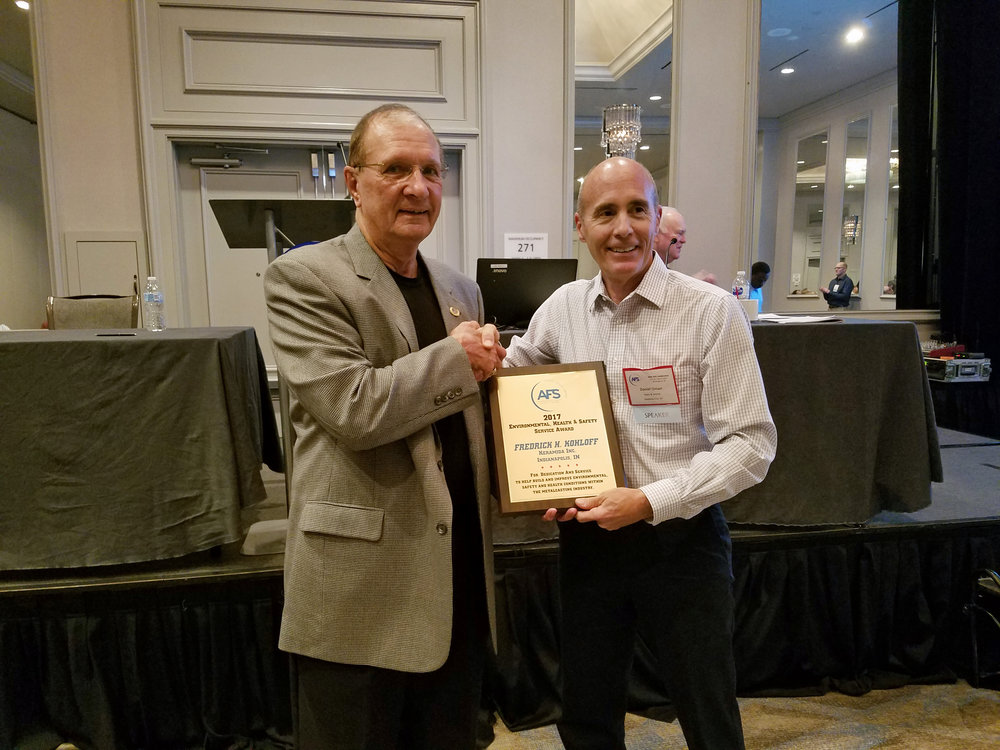 Fred Kohloff receiving the AFS Service Award