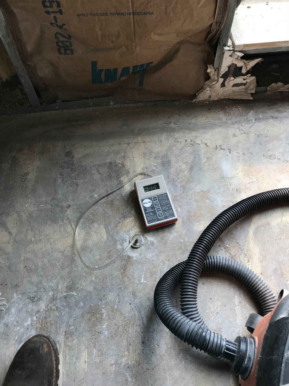 Vapor mitigation assessment of sub-slab resistance, environmental influence and pressure field extension (PFE) testing using a digital-manometer