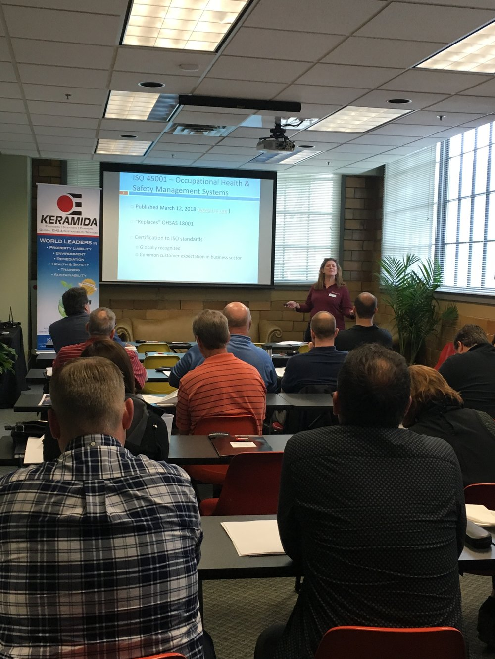 Kristen Belcredi speaking about the new ISO 45001 Health & Safety Management System