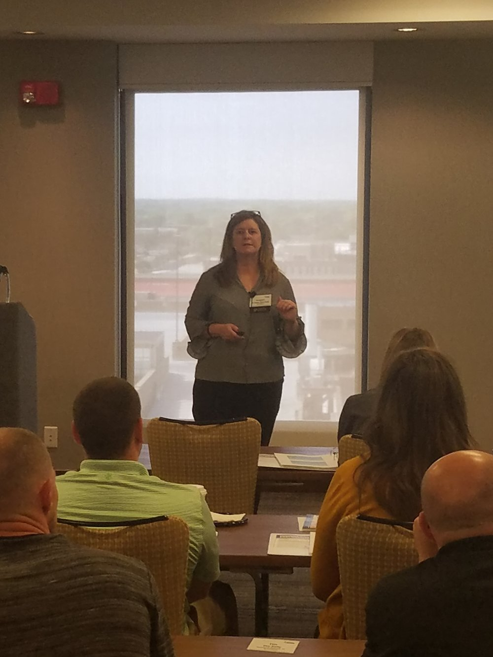 "Kristen Belcredi, P.E., C.H.M.M., ISO Auditor, Senior Vice President, Engineering Services, presenting ""Water Permitting 101"""
