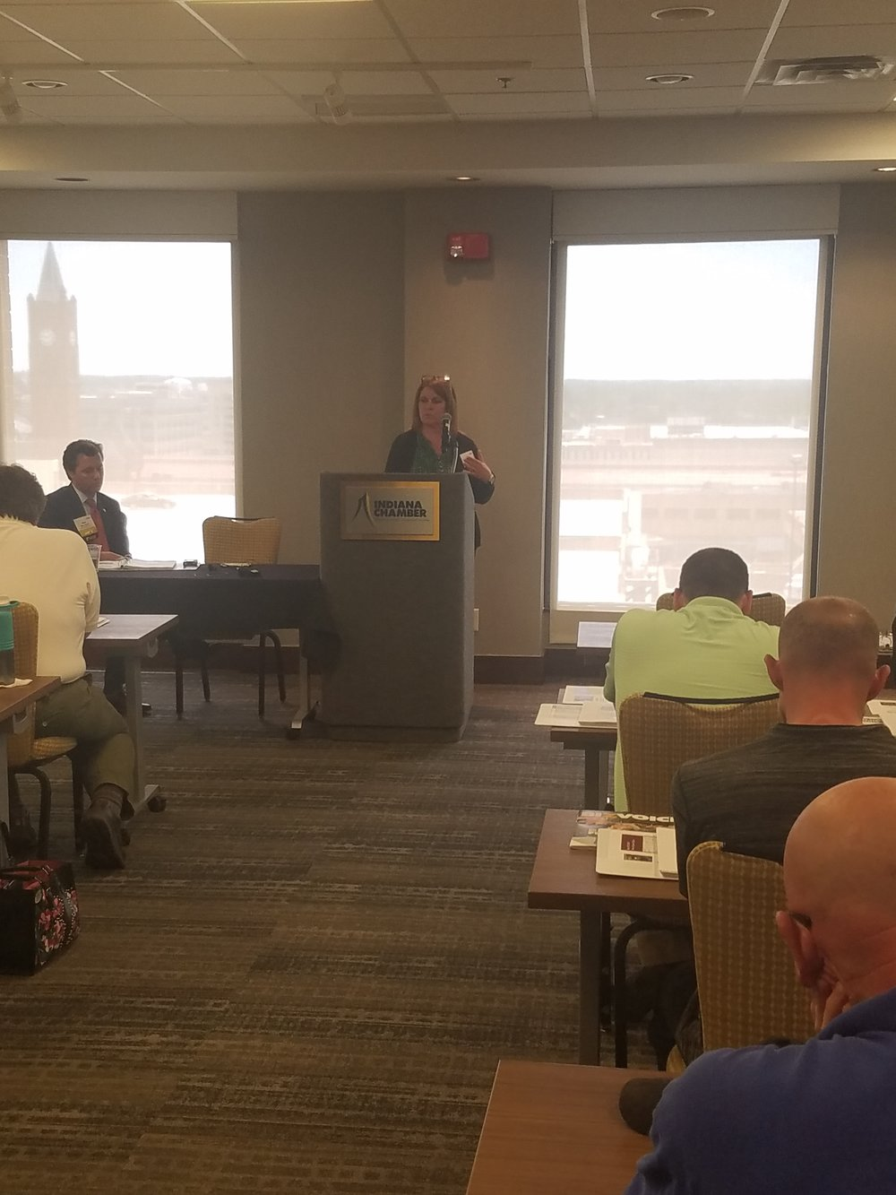 "Kathy Moore, Vice President, Air Services, presenting on ""Air Permitting Renewals and Modifications"""