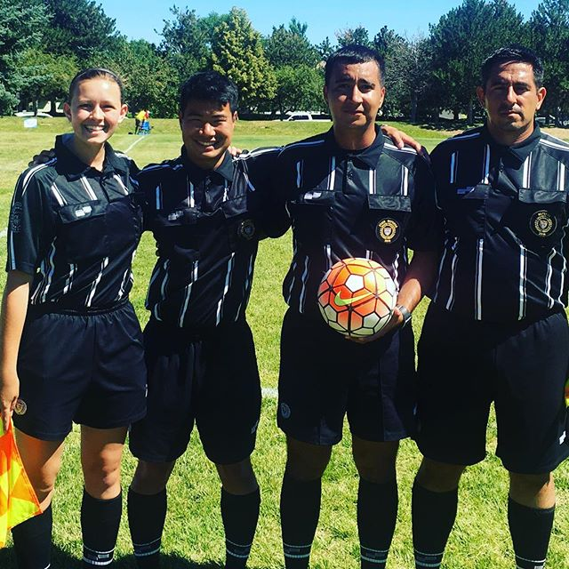 Referee Eric Herrera and crew for 13F semifinal #azrefs #fwr #roadtotx