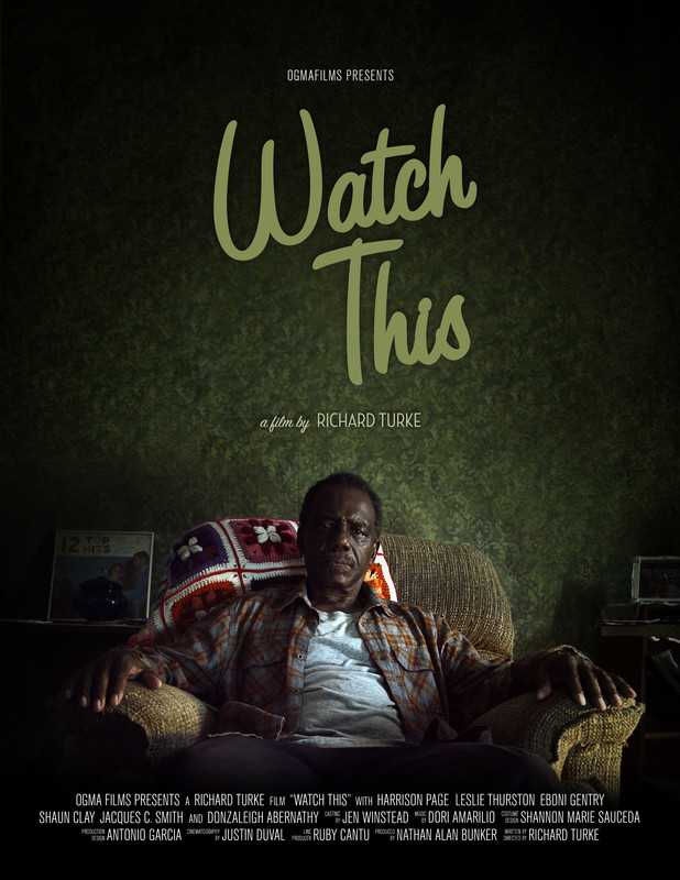 Watch This  synopsis: A retired bus driver, unable to mourn the loss of his wife, turns to his television for comfort. When the TV breaks, he is forced to look outside his closed world.