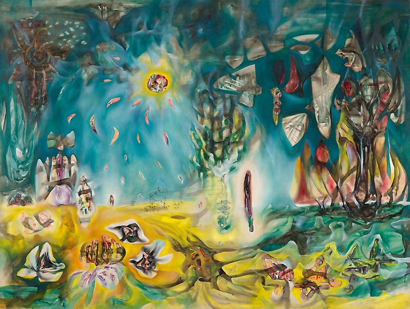 The Earth is a Man  from 1942 by Chilean painter Roberto Matta