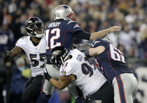 Recently departed Lawrence Guy takes down Tom Brady
