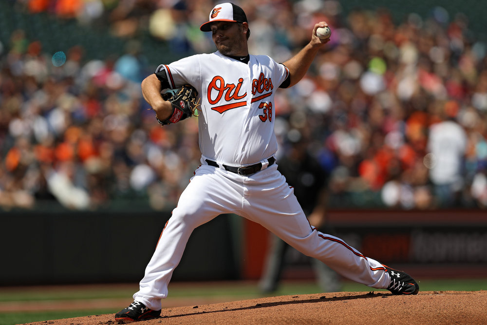 Orioles' pitcher Wade Miley has been an instrumental part of the team's early success. If he and Dylan Bundy continue their dominance, the Orioles can look forward to October baseball. Image Courtesy the Baltimore Sun.