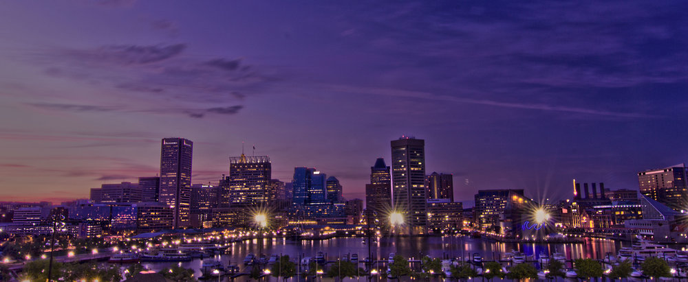 Baltimore+purple+skyline