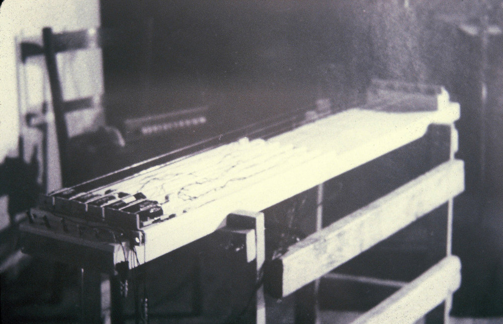 Long Zither with Magnetic String Drivers (Ebows), Experimental Intermedia Foundation, New York, 1980