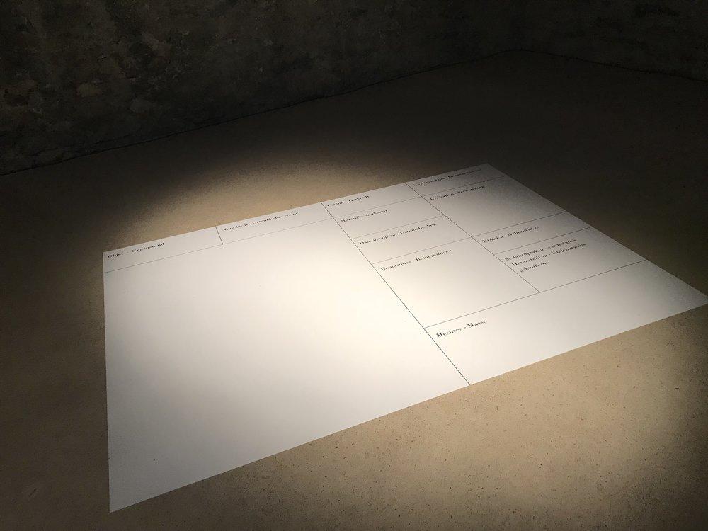 """""""Kartothek"""" Installation View"""