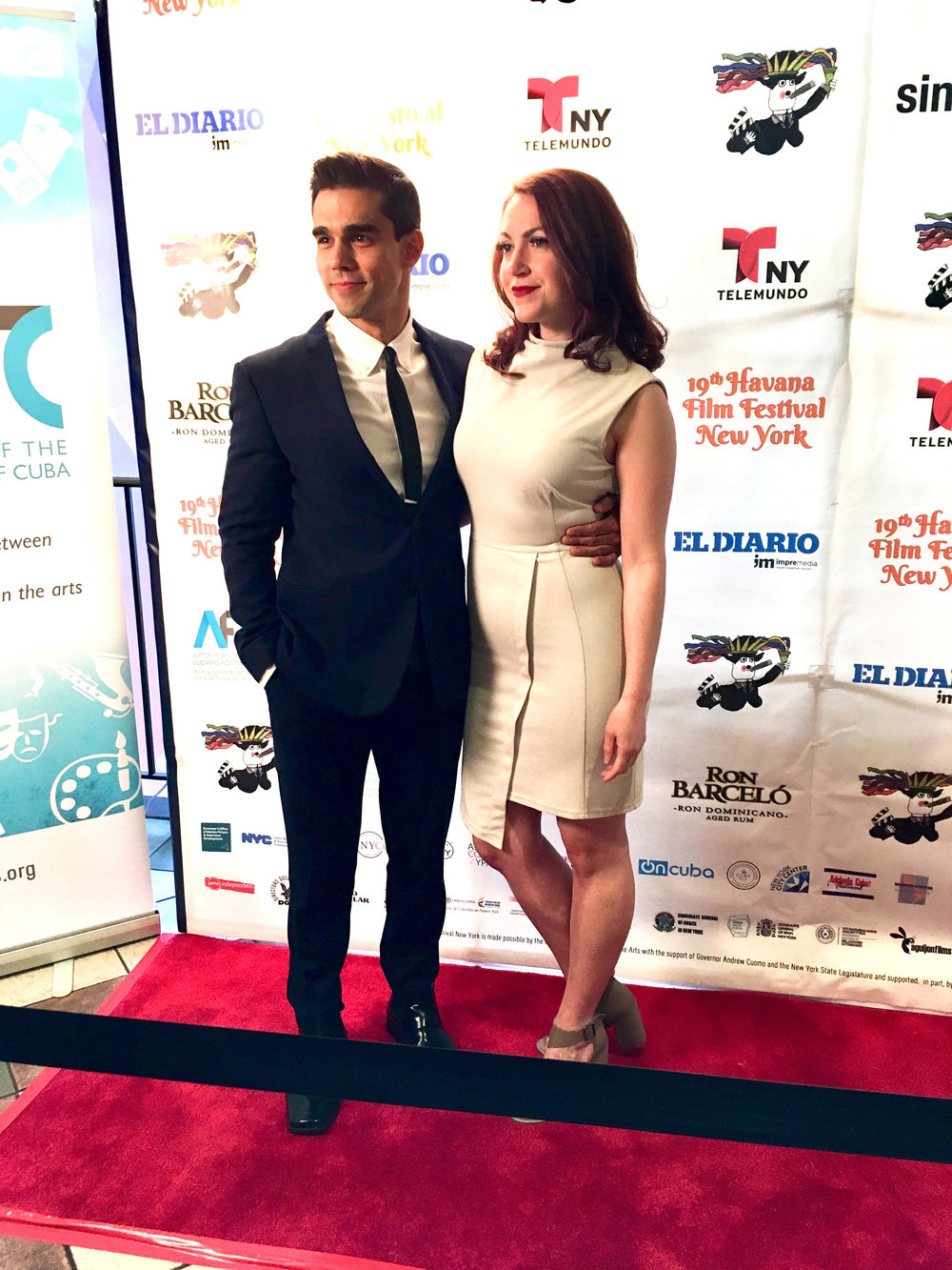 With director and actor  Keelie Sheridan  on the red carpet for the Havana Film Festival New York for the movie  Bx3M