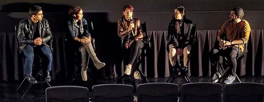 Q&A after the screening for  Bx3M  with cast and director  Judith Escalona