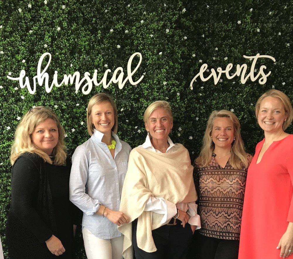 Women in Design:   Katie Cutler (KCutler Interiors), Kathy Marshall (KM Design), Meggin Hunt (The Singing Flower), Tamara DeOrio (Cake & Ink)