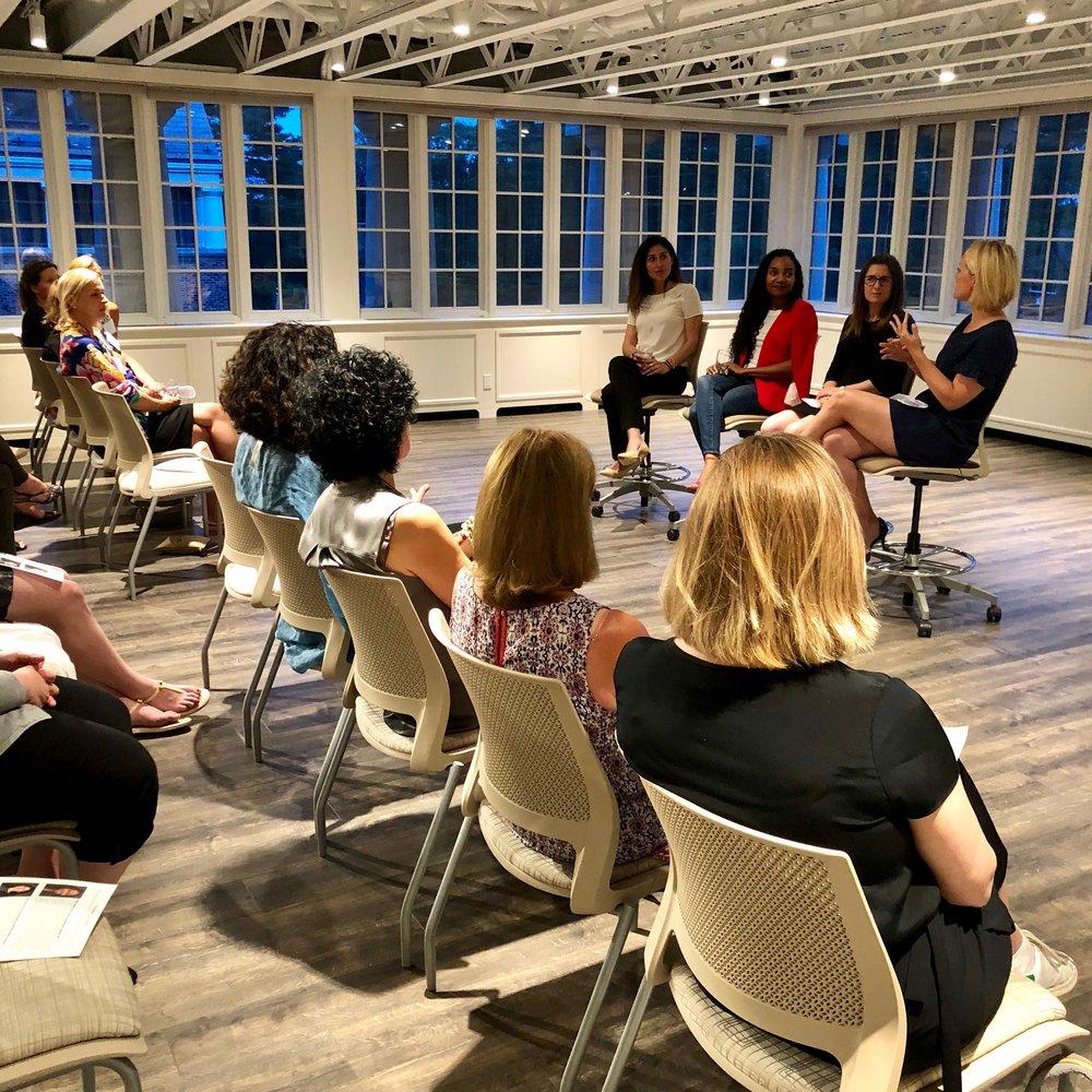Women in Higher Education:   Renee Gosline (MIT), Ereni Markos (Suffolk University) Sally Berkowitz (Cornell University)