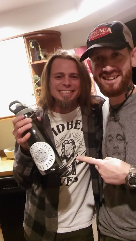 James Spiers and Dale in Ithaca #WaterBottleSelfie for the #PlasticFreeChallenge