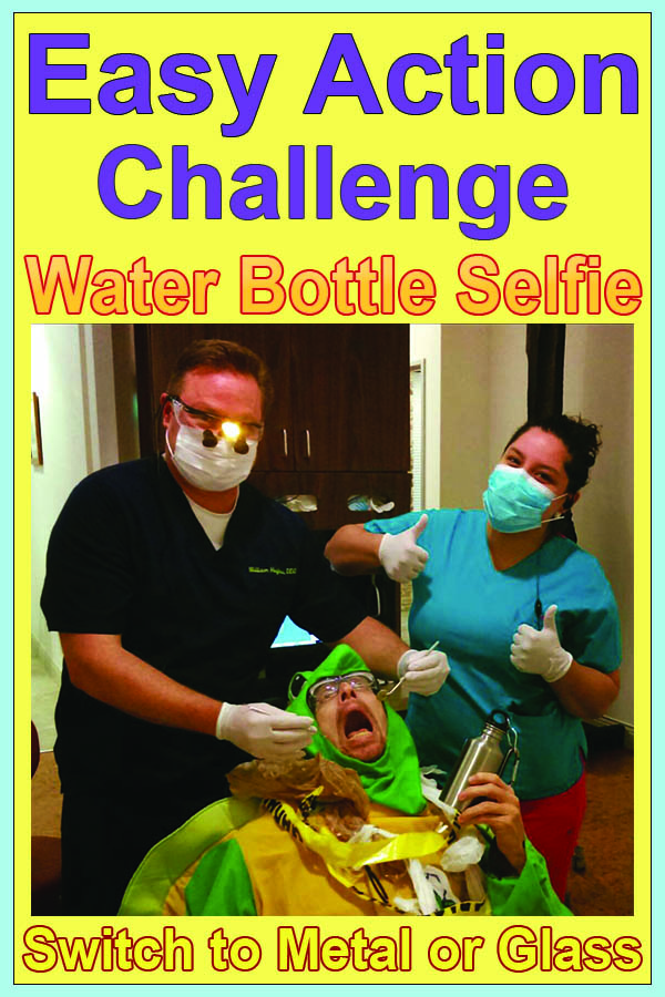 Snap a selfie holding your reusable water bottle & invite your friends to do the same & use #PlasticFreeChalleng in your post.  Check out our gallery of fun #WaterBottleSelfies from 2016 for fun and creative ideas:   www.plasticfreechallenge.org/water-bottle-selfies-2016