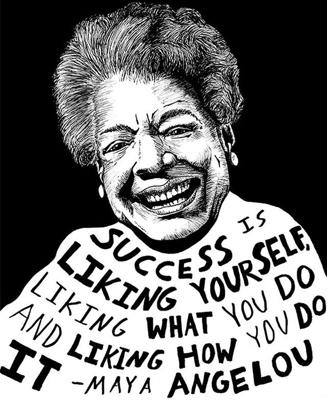 #MayaAngelou would have turned 88 today, and while she is no longer with us, her words live on. The author and civil rights activist is best known for her 1969 memoir, I Know Why the Caged Bird Sings, the first non-fiction bestseller by an African-American woman.  #QuoteoftheDay 🎨 by: @junkfiction
