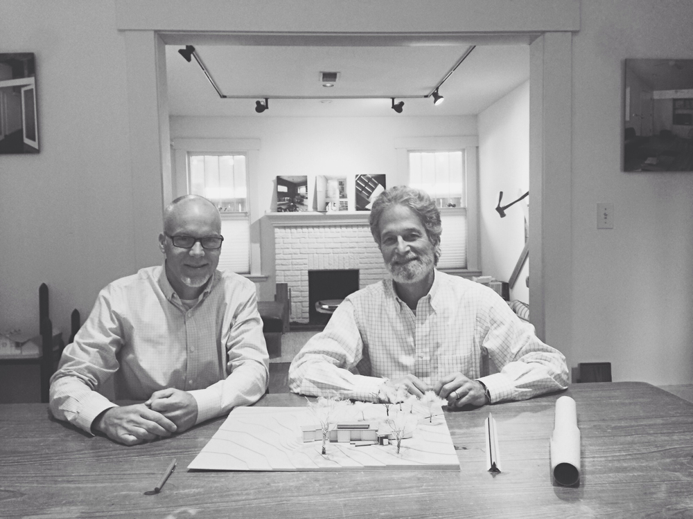 PICTURED ABOVE: FOUNDING PARTNERS MIKE MCINTYRE AIA (LEFT) & BOB ROBINOWITZ AIA (RIGHT)