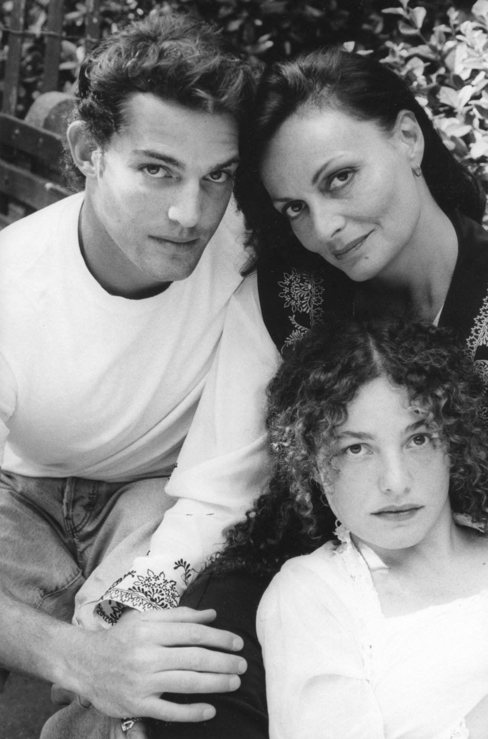 Diane with son Alexander and daughter Tatiana, 1992 (Photography by Wayne Maser)