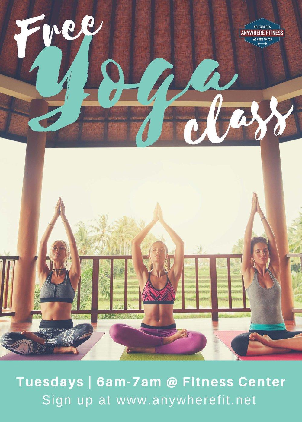 Yoga - Tuesdays 6am-7am.jpg