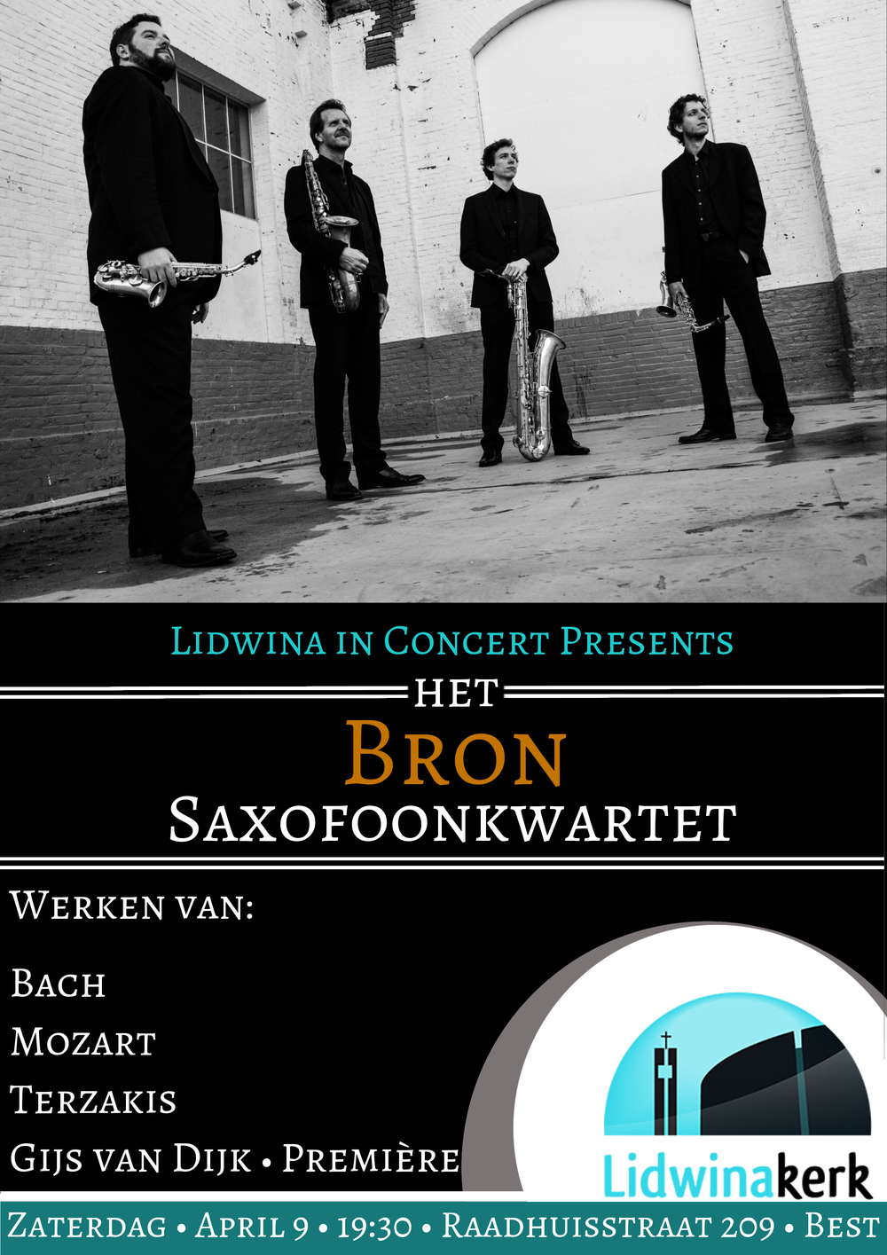 Lidwinakerk - Bron Saxophone Quartet - April 9 - Dutch.jpg