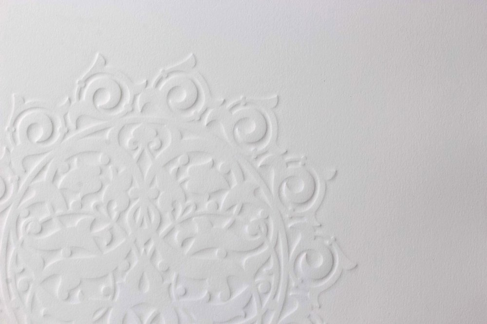 """A Hundred Waves (Detail)   Embossed Print on Paper  29"""" x 21.5"""""""