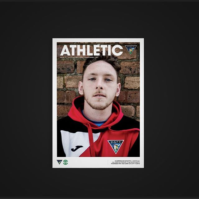 Athletic | Issue 01 | Friendly Fixture | Dunfermline Athletic v Hibbs | Curtis Sport x @ryanchamberss . #design #designer #graphicdesign #graphicdesigner #graphics #graphic #athletic #football #soccer #sport #futbol #dunfirmline #black  @mundialmag @soccerbible