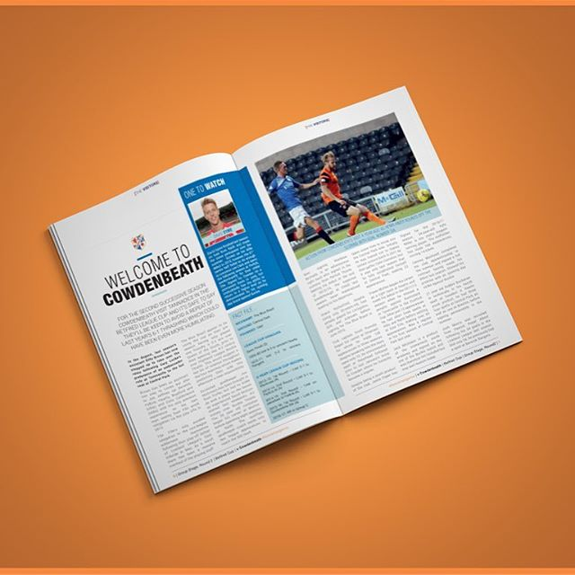 Dundee United v Cowdenbeath | ISSUE 02 | Visitors | Betfred Cup . #Dundee #dundeeutd #forevertangerine #football #soccer #design #graphicdesigner #graphicdesign #black #United #programme #programmedesign #photoshop #indesign #publishing #design #insta #cowdenbeath #designer #sport #magazine #futbol #nike #match