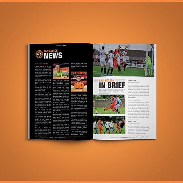 Dundee United v Cowdenbeath | ISSUE 02 | Tannadice Times & Pre-Season Review | Betfred Cup . #Dundee #dundeeutd #forevertangerine #football #soccer #design #graphicdesigner #graphicdesign #black #United #programme #programmedesign #photoshop #indesign #publishing #design #insta #cowdenbeath #designer #sport #magazine #futbol #nike #match