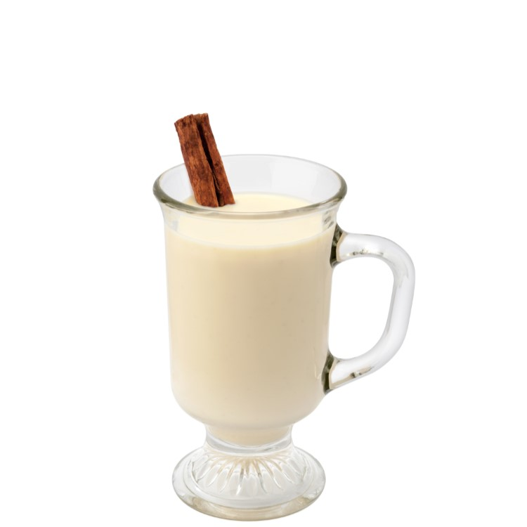 SKINNY EGG NOG DE-LITE Shake dairy-free BOM BOM Nilli Vanilli with ice and pour into glass. Garnish with a pinch of nutmeg and swirl with a cinnamon stick; cinnamon sugar and whipped cream topping optional.